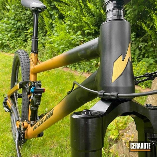 Cerakoted: Bicycle Frame,Custom,Graphite Black H-146,Bikes