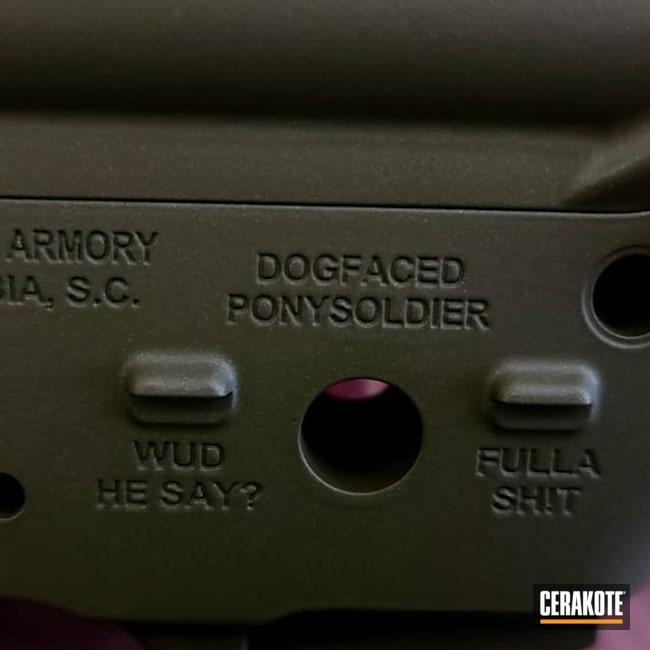 Cerakoted: S.H.O.T,AR-14,AR Project,Gun Parts,Ar Rail,COBALT KINETICS™ GREEN H-296,AR Build,Angry Patriot