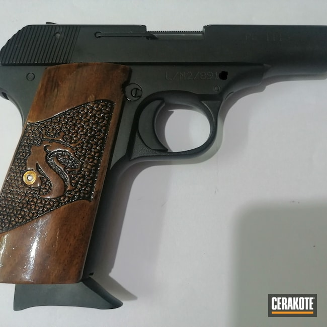 Cerakoted: S.H.O.T,Shimmer Aluminum H-158,.32 ACP,Graphite Black H-146,Revolver
