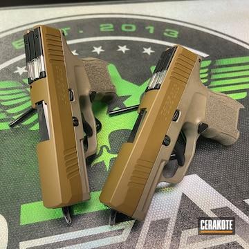 Sig Sauer P365 Pistol Cerakoted Using Magpul® Flat Dark Earth