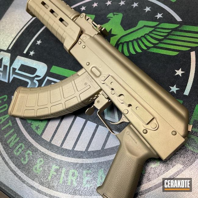 Cerakoted: S.H.O.T,Custom Gold,AK Rifle,AK,Gold H-122