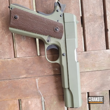 1911 Pistol Cerakoted Using Forest Green
