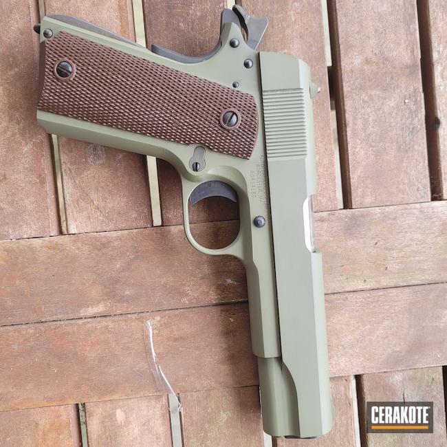 Cerakoted: .45 ACP,Pistol,Forest Green H-248,1911