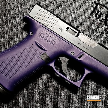 Glock 48 Cerakoted Using Black Cherry And Sky Blue