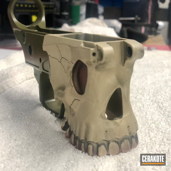 Cerakoted: S.H.O.T,Skull,Crimson H-221,.223,Noveske Bazooka Green H-189,Spikes,Jack,.300 Blackout,Radical Firearms,Spike's Tactical The Jack,Graphite Black H-146,BENELLI® SAND H-143,.223 Wylde,Distressed Skull