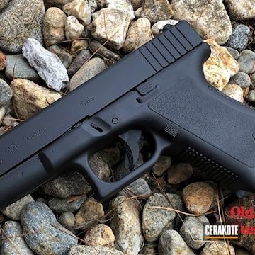 Glock 19 Cerakoted Using Graphite Black