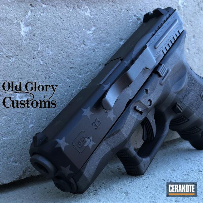 Cerakoted: S.H.O.T,Conceal Carry,EDC Pistol,Graphite Black H-146,Gun Metal Grey H-219,American Flag,Glock,.357 Sig,Glock 33,Ghost Flag