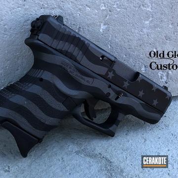 American Flag Themed Glock 33 Cerakoted Using Gun Metal Grey And Graphite Black