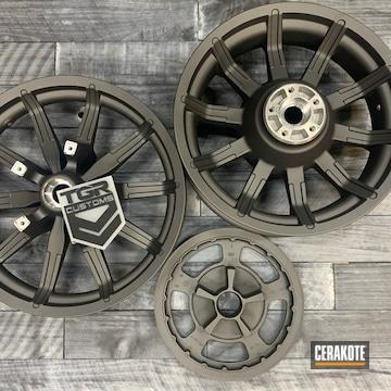 Harley Davidson Motorcycle Wheels Cerakoted Using Tungsten