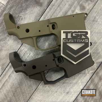 Ar Lowers Cerakoted Using Graphite Black And O.d. Green