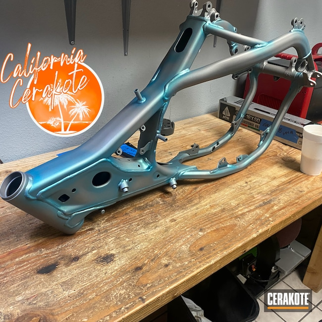 Cerakoted: Frame,Chassis,Dirtbike,Titanium H-170,Automotive,Christopher Miller,california cerakote