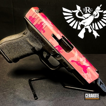 Pink Multicam Glock Cerakoted Using Bazooka Pink, Prison Pink And Pink Champagne