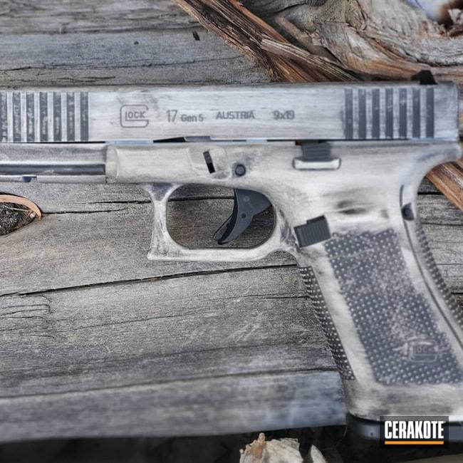 Cerakoted: S.H.O.T,9mm,Stormtrooper White H-297,Armor Black H-190,Pistol,Glock,Glock 17