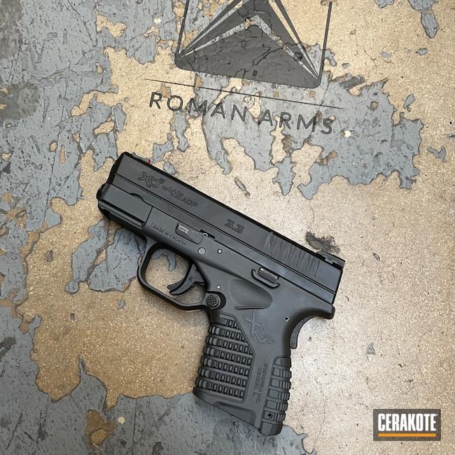 Cerakoted: S.H.O.T,Sniper Grey H-234,.45 ACP,Pistol,Springfield Armory,Springfield XDS,Handguns,XDS