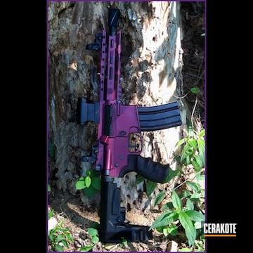 Aac Ar Rifle Cerakoted Using Black Cherry