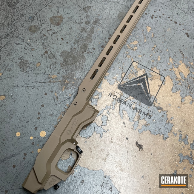 Cerakoted: S.H.O.T,Rifle Stock,MDT Chassis,MAGPUL® FLAT DARK EARTH H-267,Stock,Rifle Chassis
