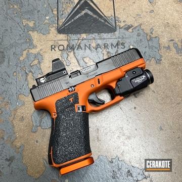 Glock 19 Gen 5 Cerakoted Using Tequila Sunrise And Gold