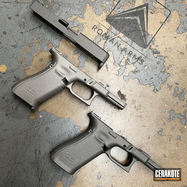 Cerakoted: S.H.O.T,Glock 19,Glock 19 Gen 5,Tungsten H-237,Gun Metal Grey H-219,Pistol,Glock,Handguns,Glock 19X