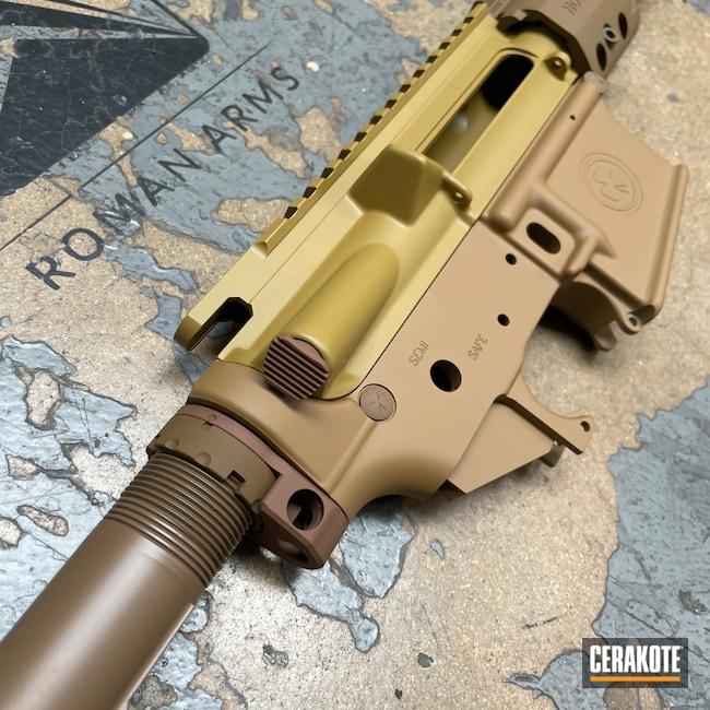 Cerakoted: Noveske Tiger Eye Brown H-187,S.H.O.T,Upper / Lower,Hodge Defense,HDSI,S-Lock,Hodgeflauge,Ral 8000 H-8000,Upper / Lower / Handguard,Hodge Deffense Systems,A.I. Dark Earth H-250