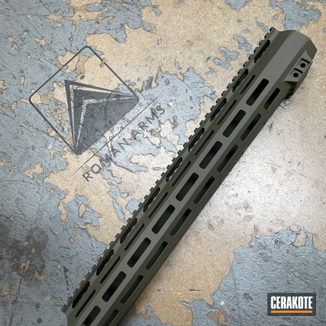 Cerakoted: S.H.O.T,Primary Arms,Rail,Handguard,O.D. Green H-236