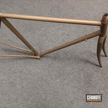 Bike Frame Cerakoted Using Burnt Bronze