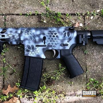 Kryptek Camo Ar Build Cerakoted Using Multicam® Dark Grey, Sniper Grey And Graphite Black