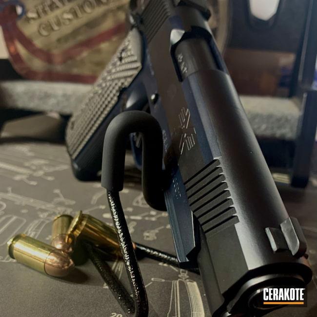 Cerakoted: S.H.O.T,Restored 1911,MAGPUL® STEALTH GREY H-188,Armor Black C-192,1911,Shadeaux