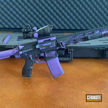 Ar Build Cerakoted Using Armor Black, Armor Black And Bright Purple