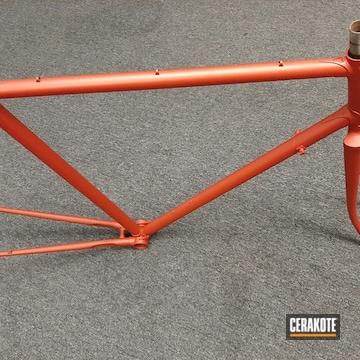 Bicycle Frame Cerakoted Using Blood Orange