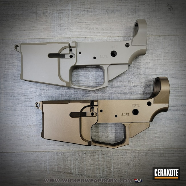 Cerakoted: S.H.O.T,Receiver,MAGPUL® FLAT DARK EARTH H-267,Burnt Bronze H-148,80%,Wicked Weaponry,AR-15