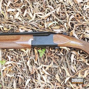 Browning Citori Lightning Shotgun Cerakoted Using Gloss Black