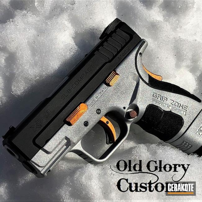 Cerakoted: S.H.O.T,9mm,Graphite Black H-146,HIGH GLOSS CERAMIC CLEAR MC-160,Crushed Silver H-255,Springfield Armory,XD MOD2,GunCandy,GunCandy Solstice
