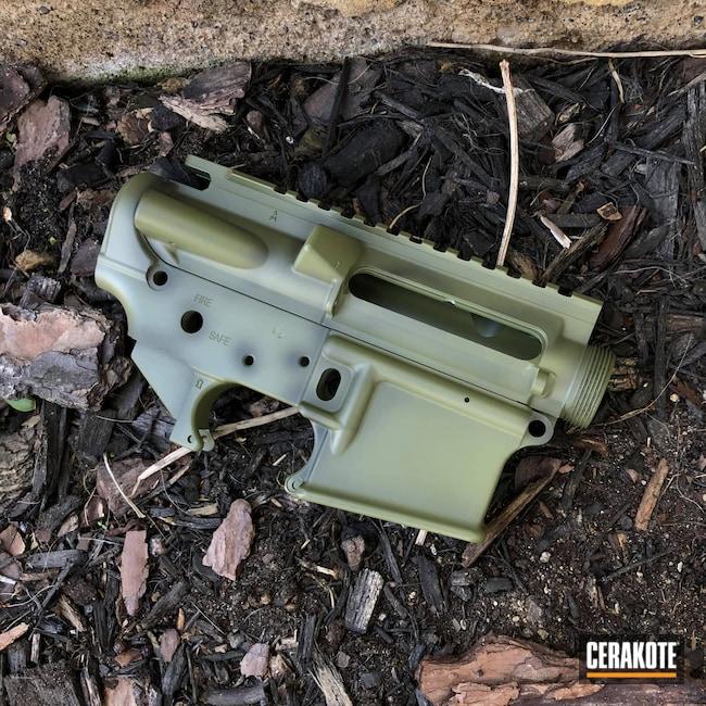 Cerakoted: S.H.O.T,AR Pistol,Graphite Black H-146,AR,Distressed,AR Project,Noveske Bazooka Green H-189,AR Parts,AR Build