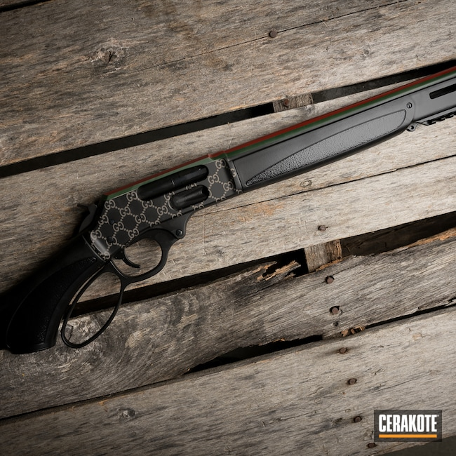 Cerakoted: S.H.O.T,Crimson H-221,Lever Action,Lever Action Rifle,Armor Black H-190,Forest Green H-248