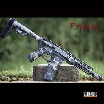 Digicam Ar Build Cerakoted Using Steel Grey, Sniper Grey And Graphite Black