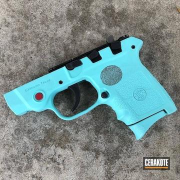Smith & Wesson Pistol Frame Cerakoted Using Robin's Egg Blue
