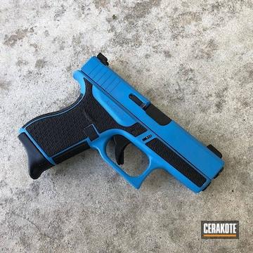 Glock 43 Cerakoted Using Sea Blue