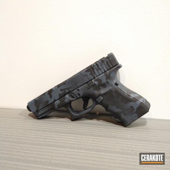 Cerakoted: Glock 19,9mm,Century Arms, Inc.,Armor Black H-190,Glock,MultiCam Black,MULTICAM® DARK GREY H-345