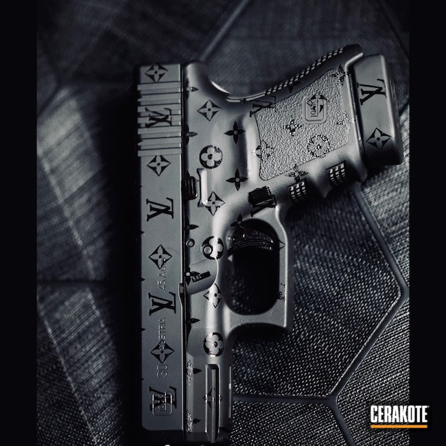 Cerakoted: S.H.O.T,Gloss Black H-109,Glock 30,Armor Black H-190,Louis Vuitton,45 ACP