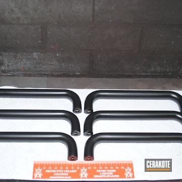 Door Handles Cerakoted Using Matte Ceramic Clear And Graphite Black