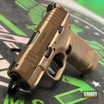 Springfield Armory Hellcat Pistol Cerakoted Using Burnt Bronze