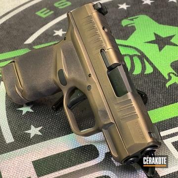 Springfield Armory Hellcat Pistol Cerakoted Using Graphite Black And Burnt Bronze