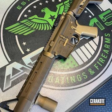 Colt M4 Cerakoted Using Burnt Bronze And Gold