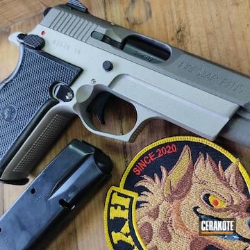Fire Star Plus Pistol Cerakoted Using Stainless, Shimmer Aluminum And Gloss Black