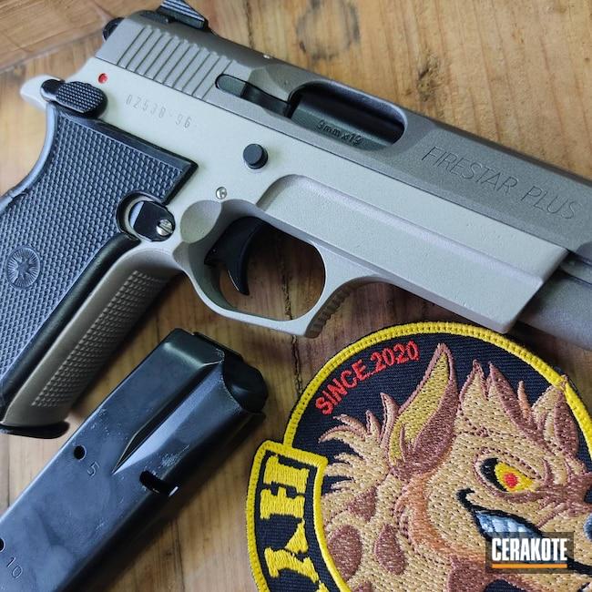 Cerakoted: S.H.O.T,9mm,Shimmer Aluminum H-158,Gloss Black H-109,Stainless H-152