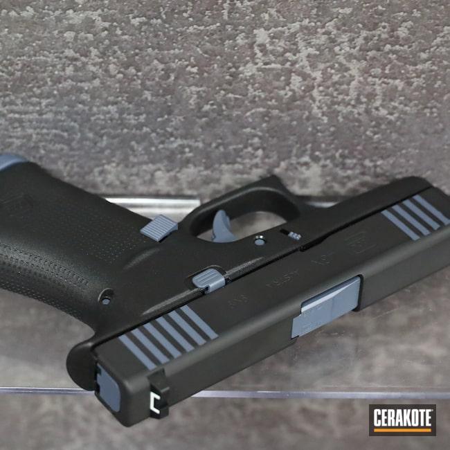 Cerakoted: S.H.O.T,9mm,Graphite Black H-146,Pistol,Glock,43x,MULTICAM® DARK GREY H-345,Handgun