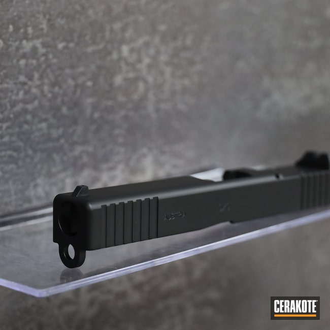 Cerakoted: S.H.O.T,9mm,Graphite Black H-146,Glock Slide,Glock,G17
