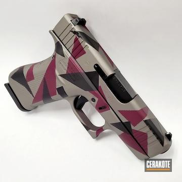 Splinter Camo Glock 43x's Cerakoted Using Hunter Orange, Sniper Grey And Graphite Black