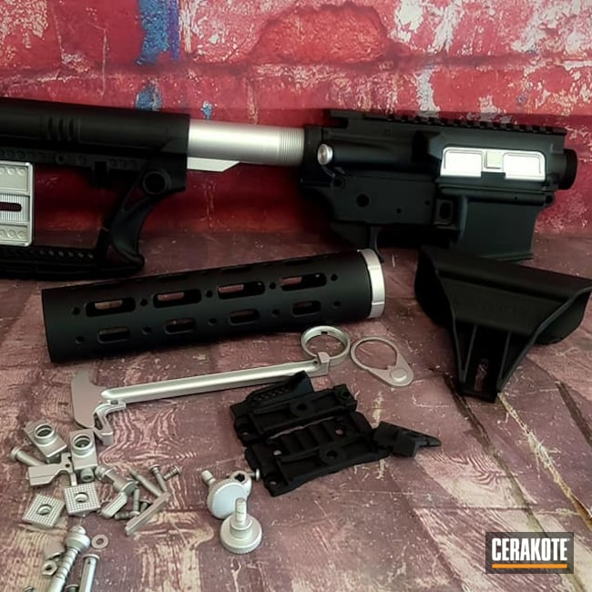 Cerakoted: S.H.O.T,Tactical,Graphite Black H-146,AR Project,Satin Aluminum H-151,Tactical Rifle,AR Build,AR-15