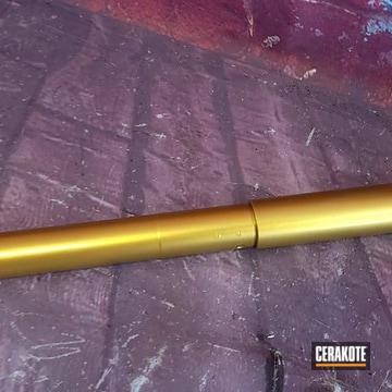 Rifle Barrel Cerakoted Using High Gloss Ceramic Clear And Graphite Black